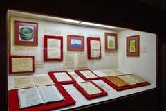 Santo Domingo, República Dominicana Manuscritos autênticos de Columbo Museu dentro de Columbus Lighthouse fotos de stock