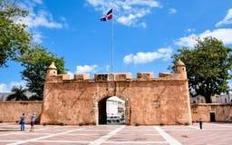 Santo Domingo, Repubblica dominicana Puerta del Conde (il portone del conteggio) Fotografia Stock Libera da Diritti