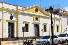 Santo Domingo, republika dominikańska Uliczny życie i widok Calle el Conde i Kolonialna Santo Domingo miasto strefa Fotografia Royalty Free