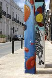 Santo Domingo street art Royalty Free Stock Image