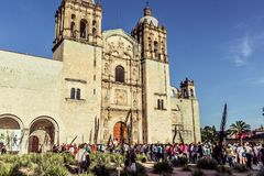 Santo Domingo Temple i Oaxaca Mexico Royaltyfri Bild