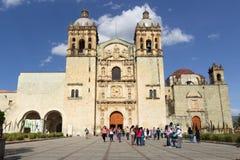 Santo Domingo Temple i Oaxaca Mexico Arkivfoton