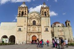 Santo Domingo Temple in Oaxaca Mexico royalty-vrije stock foto's