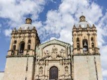 Santo Domingo Temple in Oaxaca Mexico royalty-vrije stock fotografie