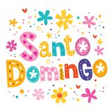 Santo Domingo-Vektor, der dekorative Art beschriftet stock abbildung