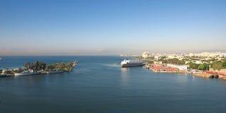 Santo Domingo waterfront, shoreline and shyline - Dominican Republic. Caribbean tropical island Stock Photos