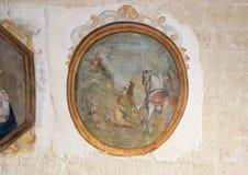 Santo Eustachius en el ` Arte Medievale de Museo Nazionale D en Matera Italia foto de archivo libre de regalías
