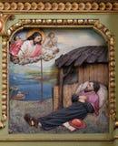 Santo Francis Xavier, retablo en la basílica del corazón sagrado de Jesús en Zagreb imágenes de archivo libres de regalías
