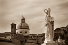 Santo Geminianus, Pontremoli, Italia Imagenes de archivo