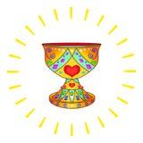 Santo grial y el sol Fotografía de archivo libre de regalías
