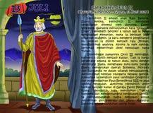 SANTO heindrich II calendar christian idea2. Santo santa christian concept table calendar and storybook christian children Royalty Free Stock Image