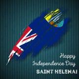 Santo Helena Independence Day Patriotic Design Imagen de archivo libre de regalías