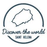 Santo Helena Map Outline El vintage descubre Ilustración del Vector