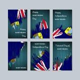 Santo Helena Patriotic Cards para el día nacional stock de ilustración