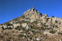 Santo Hilarion Castle en la montaña en Chipre Fotos de archivo libres de regalías