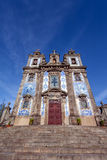 Santo Ildefonso Church in de stad van Porto, Portugal Stock Afbeeldingen