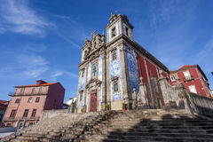 Santo Ildefonso Church i staden av Porto, Portugal Fotografering för Bildbyråer
