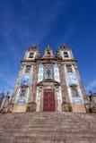 Santo Ildefonso Church i staden av Porto, Portugal Arkivbilder