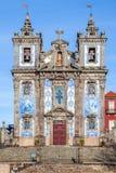 Santo Ildefonso Church i staden av Porto, Portugal Arkivfoto