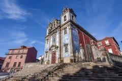 Santo Ildefonso Church na cidade de Porto, Portugal Imagem de Stock