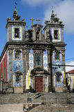 Santo Ildefonso church in Porto. Santo Ildefonso church with two towers and bells in old Porto, Portugal stock photography