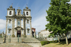 Santo ildefonso church in porto portugal Stock Photography