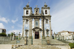 Santo ildefonso church in porto portugal Royalty Free Stock Photography