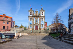 Santo Ildefonso Church. 18th century Baroque architecture Royalty Free Stock Photo