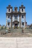 Santo ildefonso church. Traditional tiles stock photo
