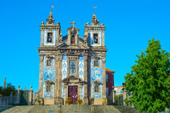 Santo Ildefonso Kirche Porto, Portugal Lizenzfreies Stockfoto
