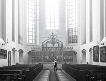 Santo interior Mary Church Rostock Germany Imagenes de archivo
