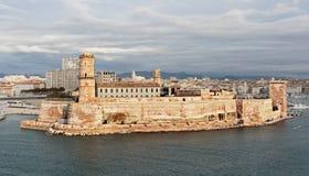 Santo Jean del puerto viejo y del fuerte en Marsella, Francia fotos de archivo