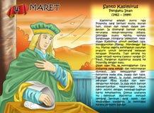 Santo Kasimirus calendar christian idea. Santo santa christian concept table calendar Royalty Free Stock Images