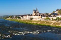 Santo-Laumer de Abbaye en Blois, Francia Imagen de archivo