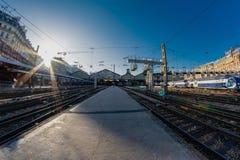 Santo Lazare Station en París imagen de archivo