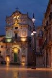Santo Lucía y el poste de la lámpara, Ortigia, Sicilia Fotos de archivo