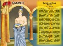 Santo marinus Santo santa calendar christian idea. Santo santa christian concept table calendar Stock Images