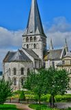 Santo Martin de Boscherville, Francia - 22 de junio de 2016: Santo Geo Fotografía de archivo