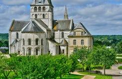 Santo Martin de Boscherville, Francia - 22 de junio de 2016: Santo Geo Foto de archivo libre de regalías