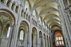 Santo Martin de Boscherville, Francia - 22 de junio de 2016: Santo Geor Foto de archivo libre de regalías