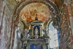 Santo Martin de Boscherville, Francia - 22 de junio de 2016: Santo Geor Fotografía de archivo libre de regalías