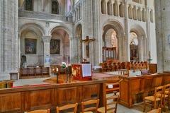 Santo Martin de Boscherville, Francia - 22 de junio de 2016: Santo Geor Imagen de archivo libre de regalías