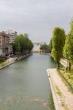 Santo Martin Paris del canal Foto de archivo libre de regalías