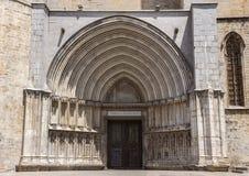 Santo Mary Cathedral en Girona Fotos de archivo