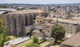 Santo Mary Cathedral en Girona Fotos de archivo libres de regalías