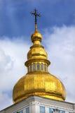 Santo Michael Monastery Cathedral Spire Kiev Ucrania fotografía de archivo