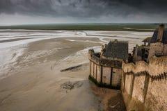 Santo Miguel Normandía de Mont Imagen de archivo libre de regalías