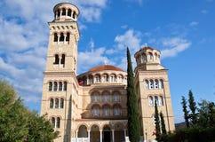 Santo Nectarios de la catedral de Aegina. Fotos de archivo