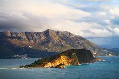 Santo Nicholas Island, Budva, Montenegro Imágenes de archivo libres de regalías
