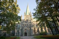 Santo Olav, Strondheim de la catedral de Nidaros Fotografía de archivo